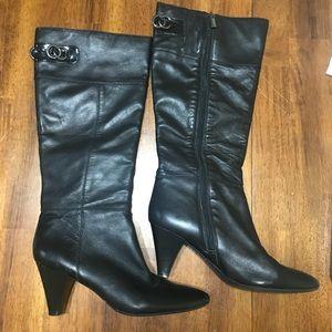 Bandolino black calf boots size 8